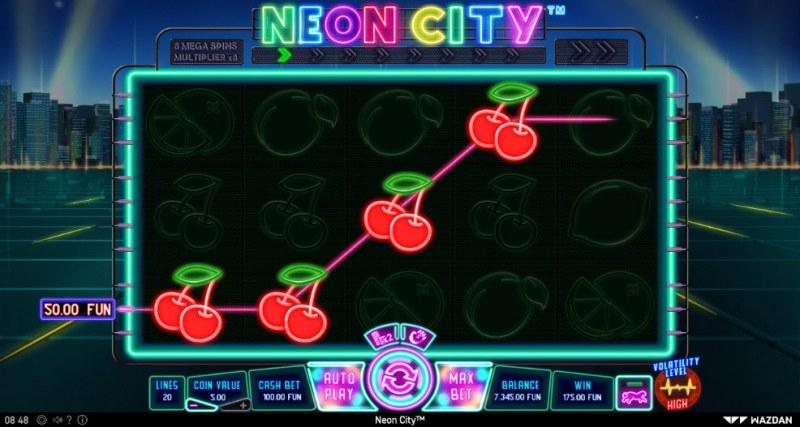 Neon City :: Multiple winning paylines