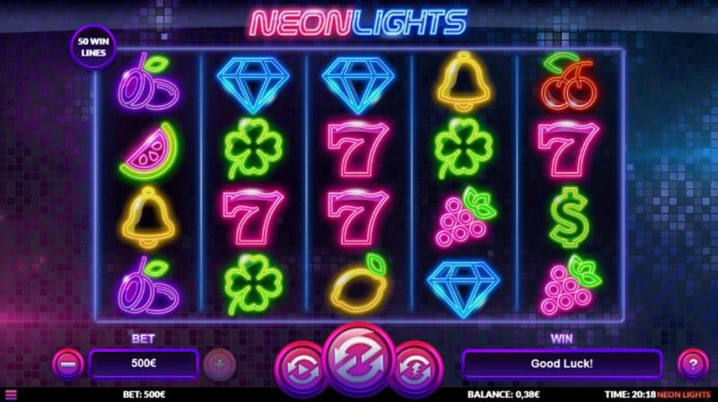 Neon Lights :: Main Game Board