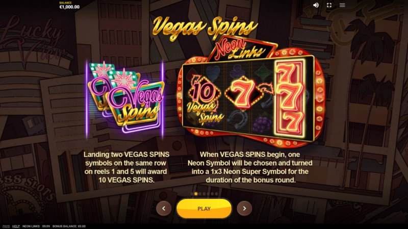Neon Links :: Free Spin Feature Rules