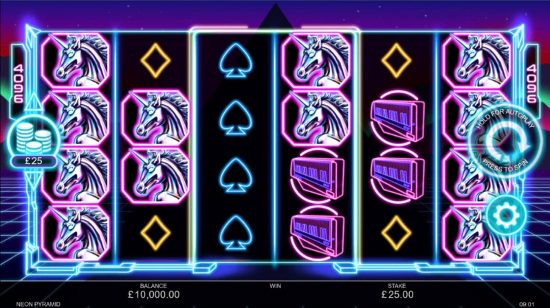 Neon Pyramid :: Base Game Screen