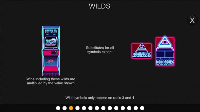 Neon Pyramid :: Wild Symbol Rules