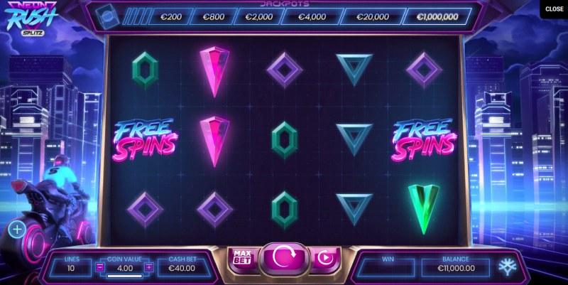 Neon Rush Splitz :: Main Game Board