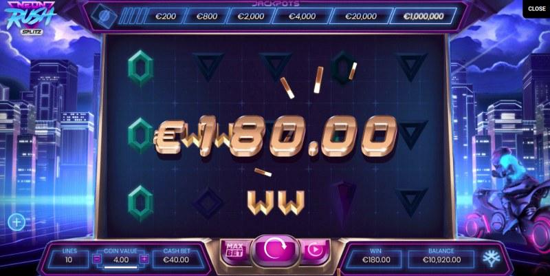Neon Rush Splitz :: Multiple winning paylines