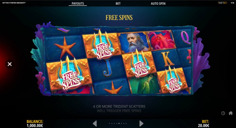 Neptune's Fortune :: Free Spin Feature Rules