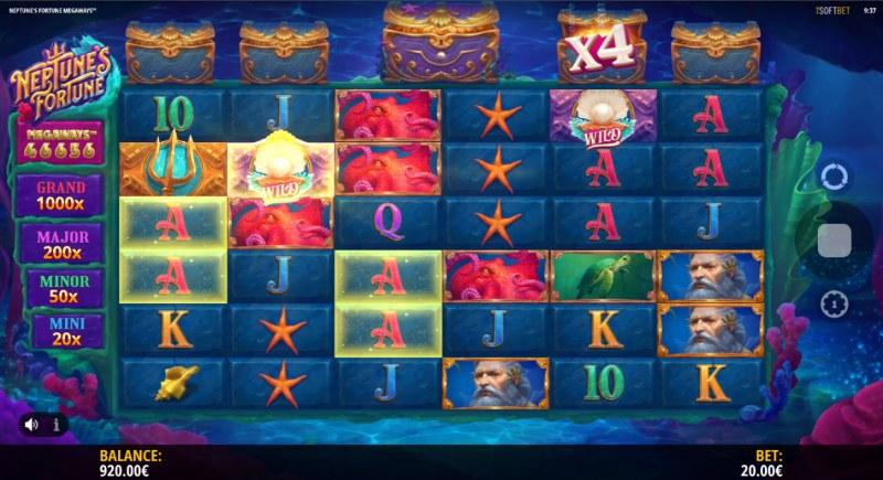 Neptune's Fortune :: Multiple winning combinations