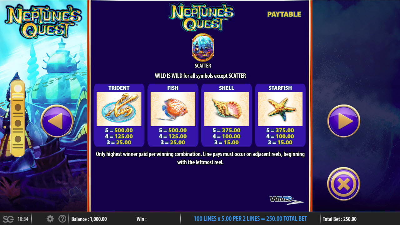 Neptune's Quest :: Medium Value Symbols