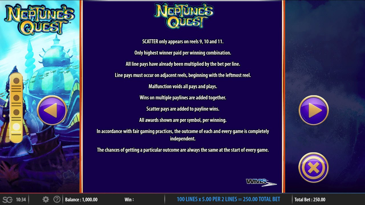 Neptune's Quest :: General Game Rules
