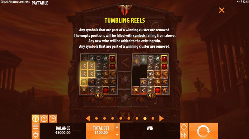 Nero's Fortune :: Tumbling Reels