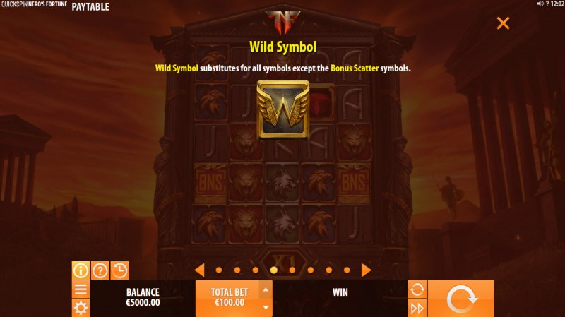 Nero's Fortune :: Wild Symbols Rules