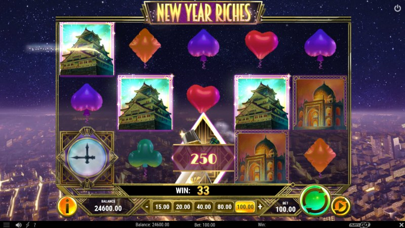 New Year Riches :: A four of a kind win