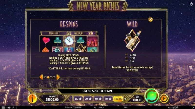 New Year Riches :: Feature Rules