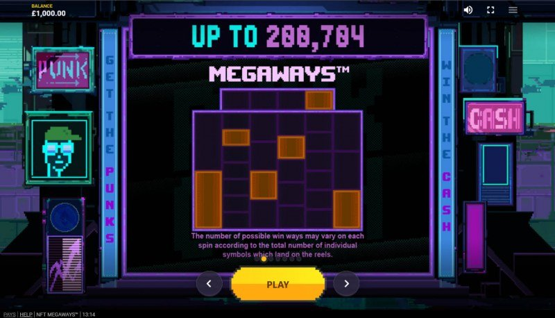 NFT Megaways :: Up to 200704 Ways to Win