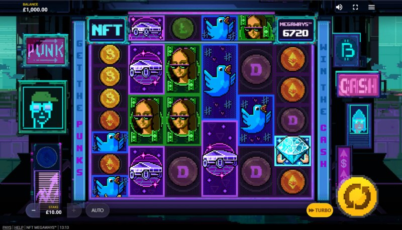 NFT Megaways :: Base Game Screen