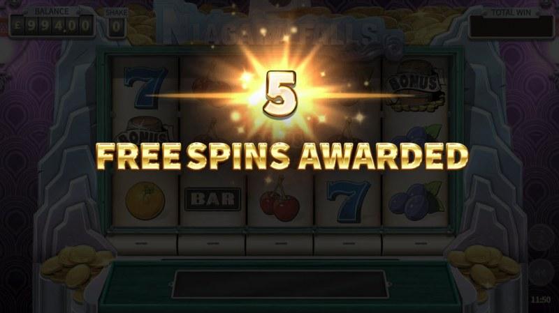 Niagara Falls :: 5 free spins awarded