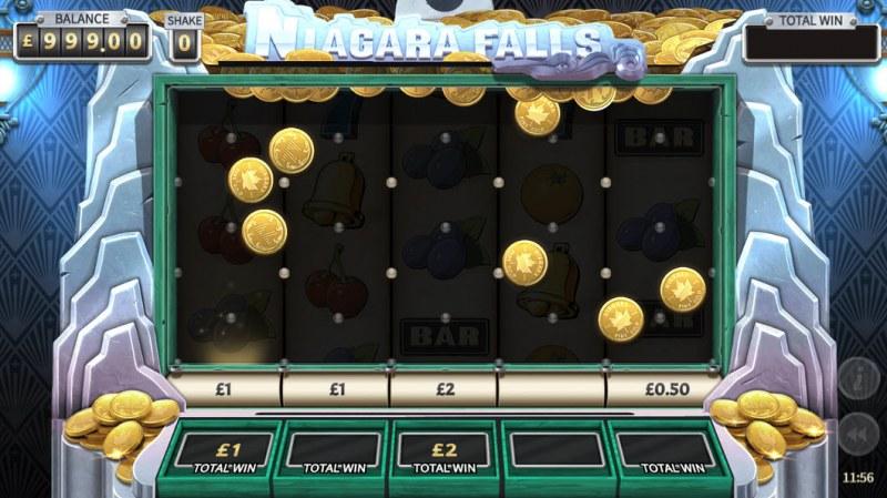 Niagara Falls :: Bonus game board