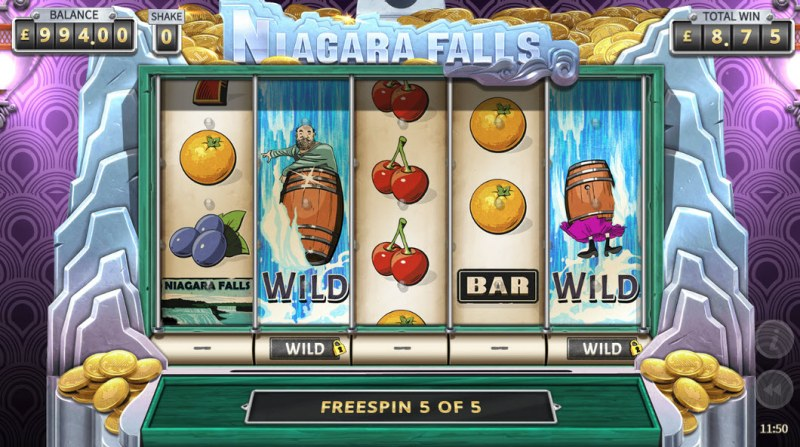 Niagara Falls :: Free Spins Game Board