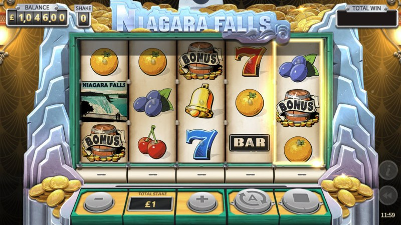 Niagara Falls :: Scatter symbols triggers the free spins feature