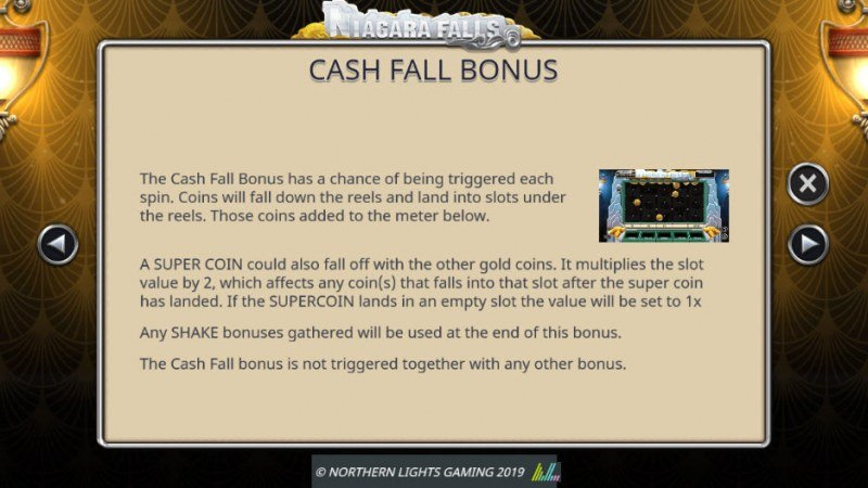 Niagara Falls :: Cash Fall Bonus