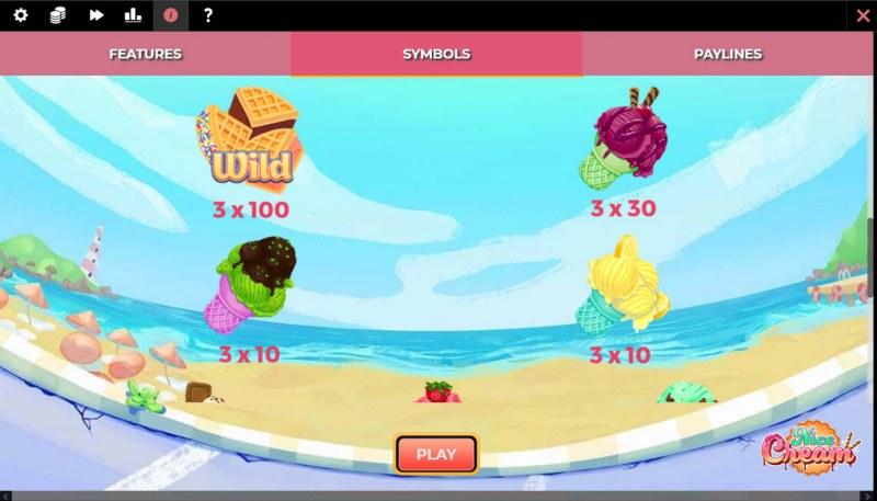 Nice Cream :: Paytable - High Value Symbols