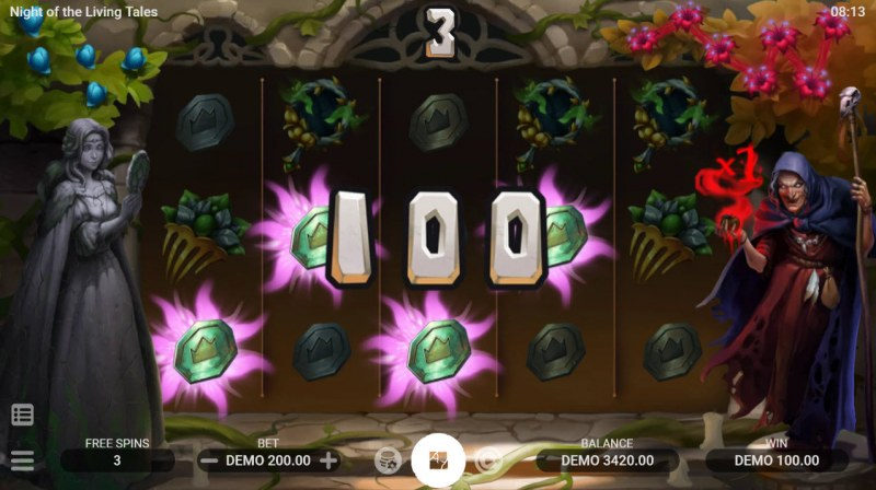 Night of the Living Tales :: Free Spins Game Board