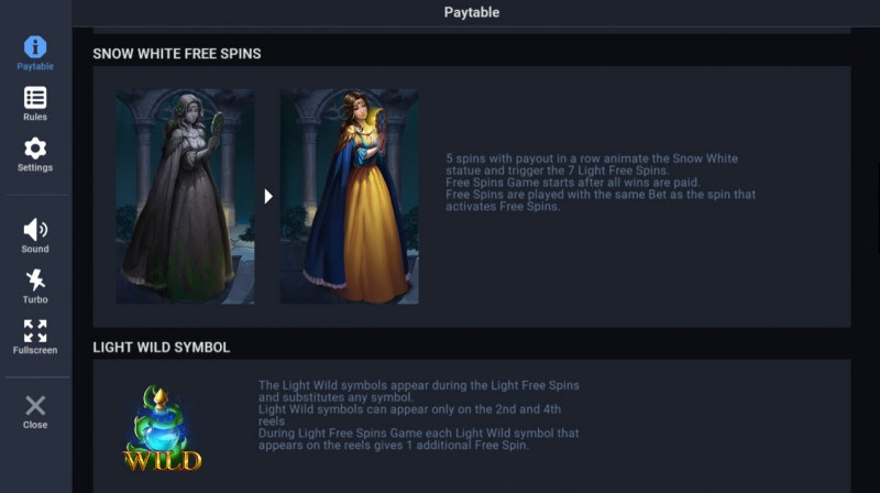 Night of the Living Tales :: Snow White Free Spins