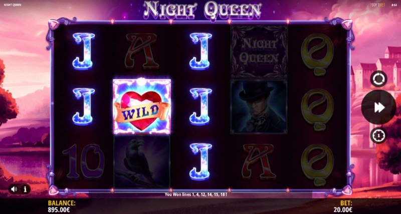 Night Queen :: Multiple winning paylines