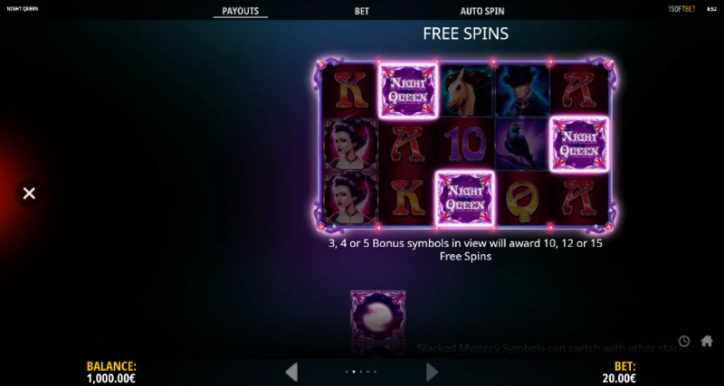 Night Queen :: Free Spins Rules