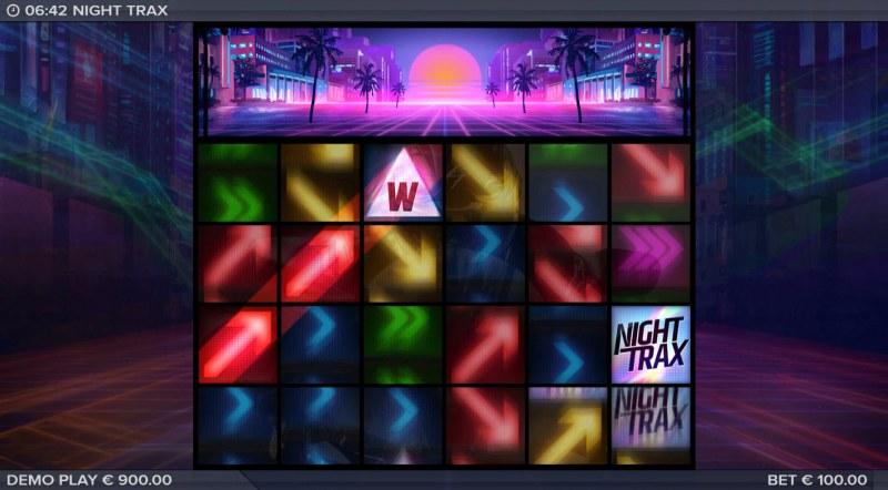 Night Trax :: A three of a kind win
