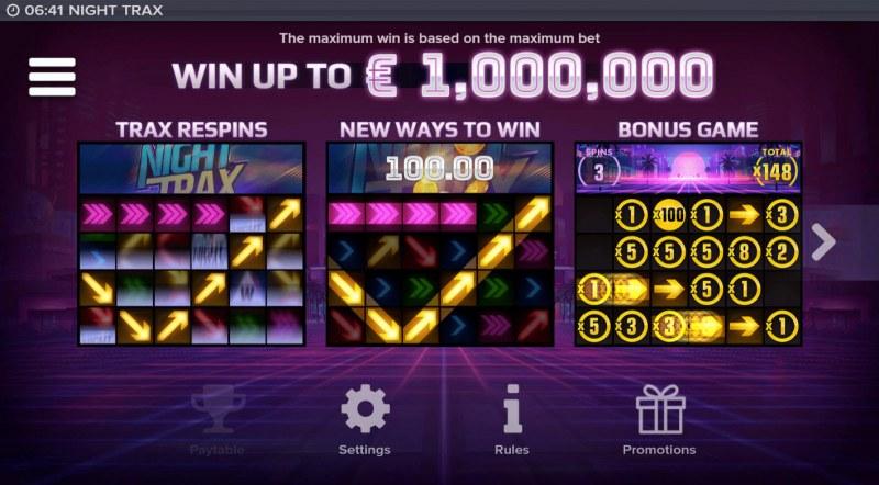 Night Trax :: Win Up To $1,000,000