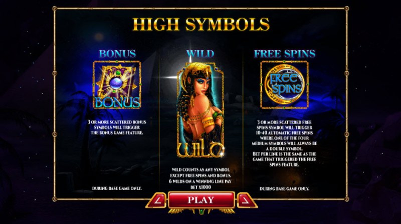 Nights of Egypt Expanded Edition :: Wild and Scatter Rules