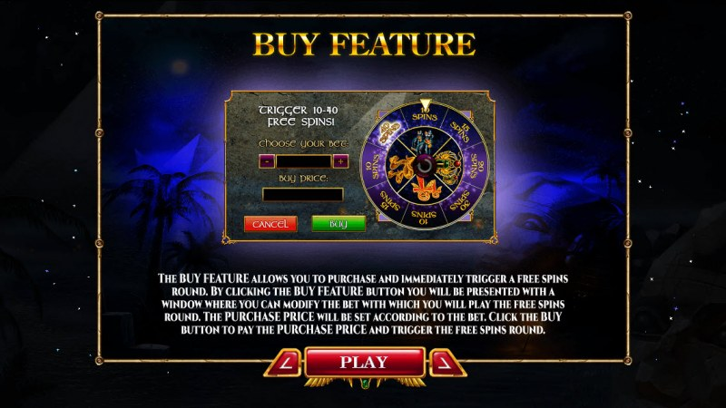 Nights of Egypt :: Buy Feature