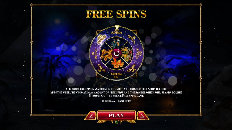 Nights of Egypt :: Free Spins Rules