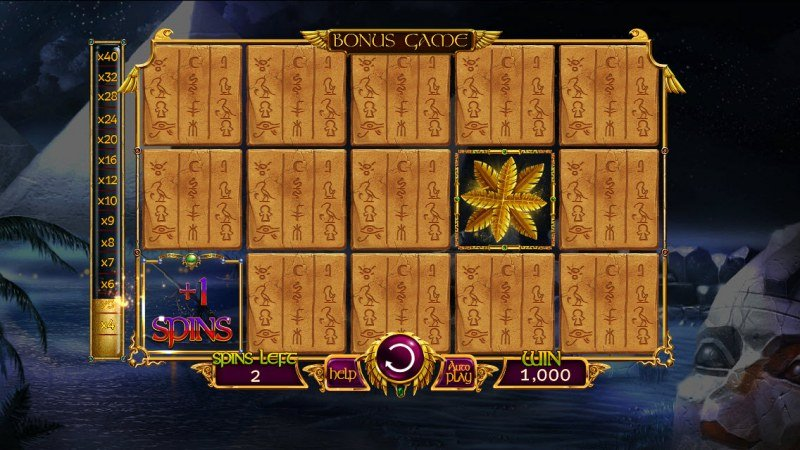 Nights of Egypt :: Additional can be earned during the bonus game