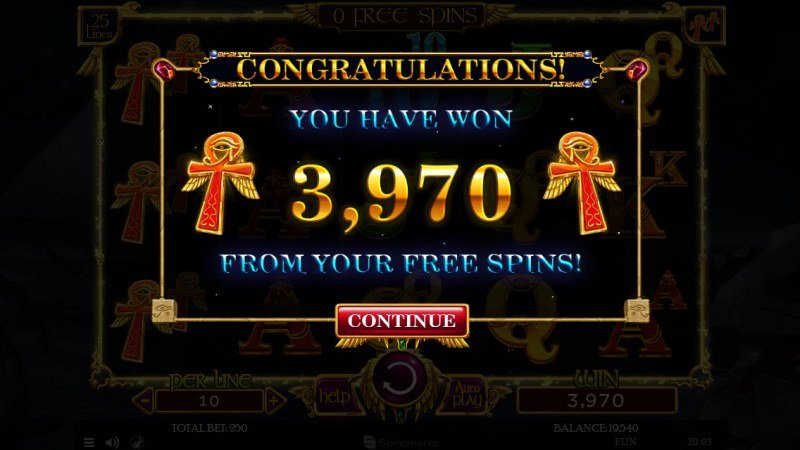 Nights of Egypt :: Total free spins payout