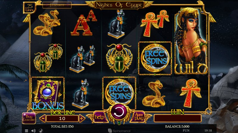 Nights of Egypt :: Main Game Board