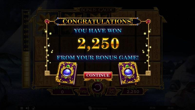 Nights of Egypt :: Total bonus payout