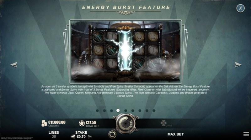 Nikola Tesla's Incredible :: Energy Burst Feature