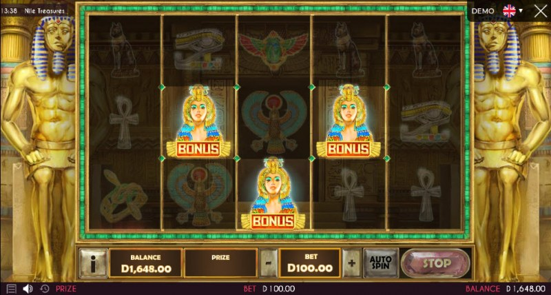 Nile Treasures :: Scatter symbols triggers the free spins feature