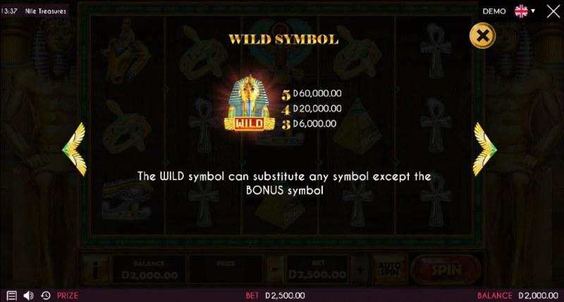 Nile Treasures :: Wild Symbols Rules
