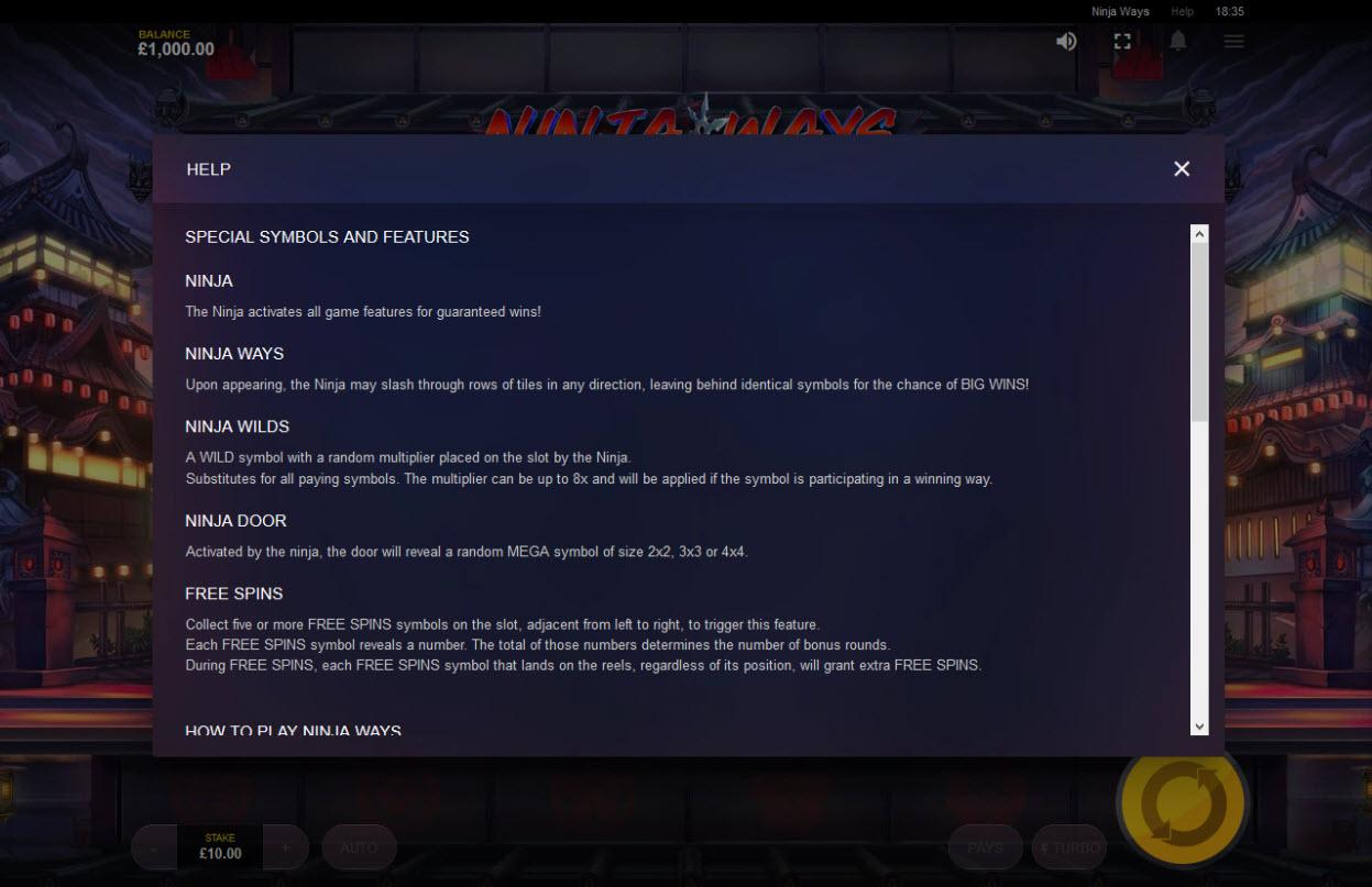 Ninja Ways :: General Game Rules