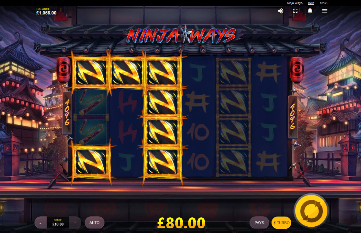 Ninja Ways :: Feature leads to multiple winning combinations