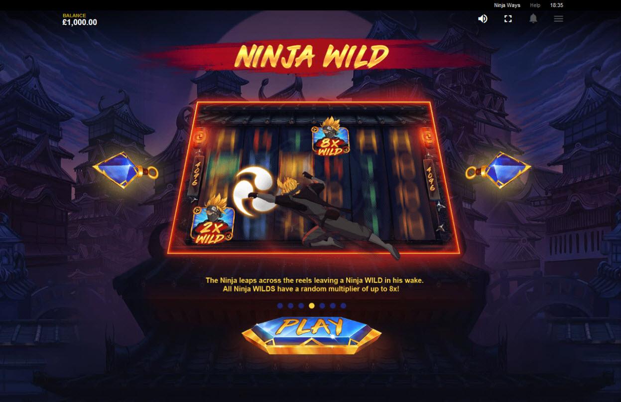 Play slots at betmaster: betmaster featuring the Video Slots Ninja Ways with a maximum payout of $100,000
