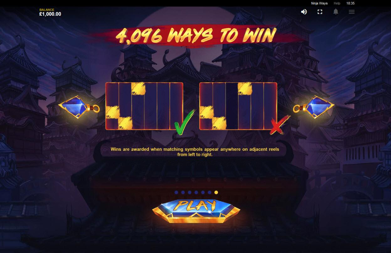 Ninja Ways :: 4096 Ways to Win