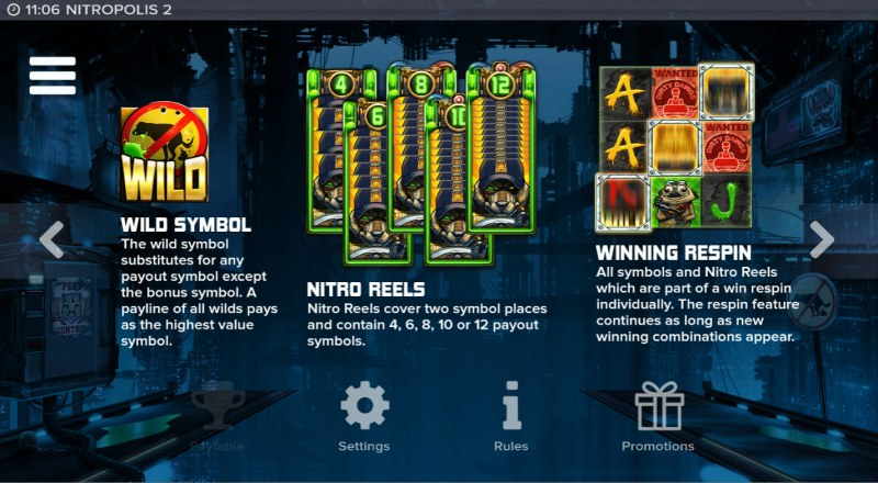 Nitropolis 2 :: Wild Symbol Rules