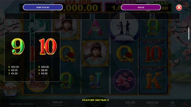 Niulang and Zhinu Quad Shot :: Paytable - Low Value Symbols