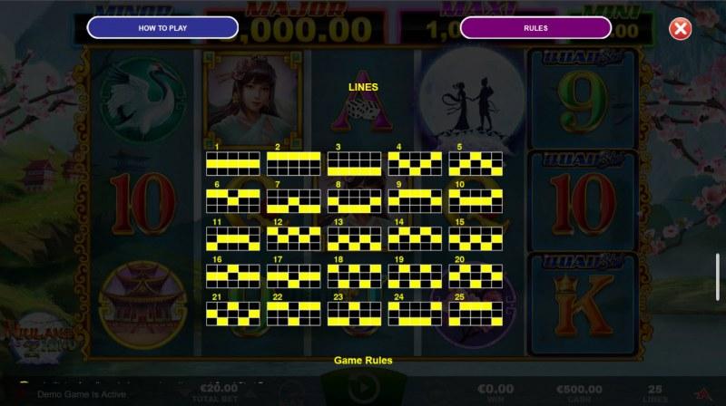Niulang and Zhinu Quad Shot :: Paylines 1-25