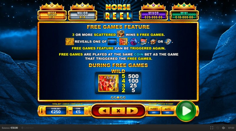 Norse Reel :: Free Spins Rules