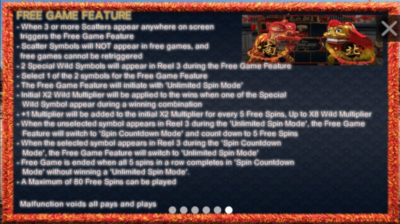 North South Lions :: Free Games Feature