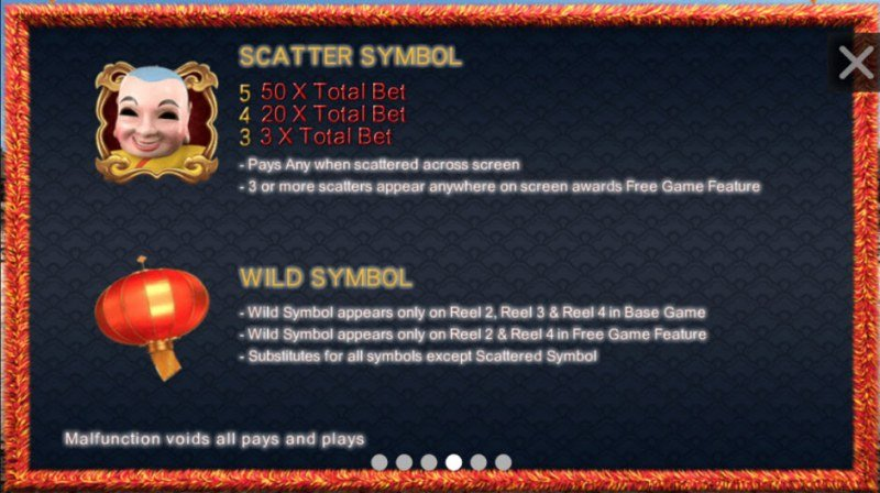 North South Lions :: Wild and Scatter Rules