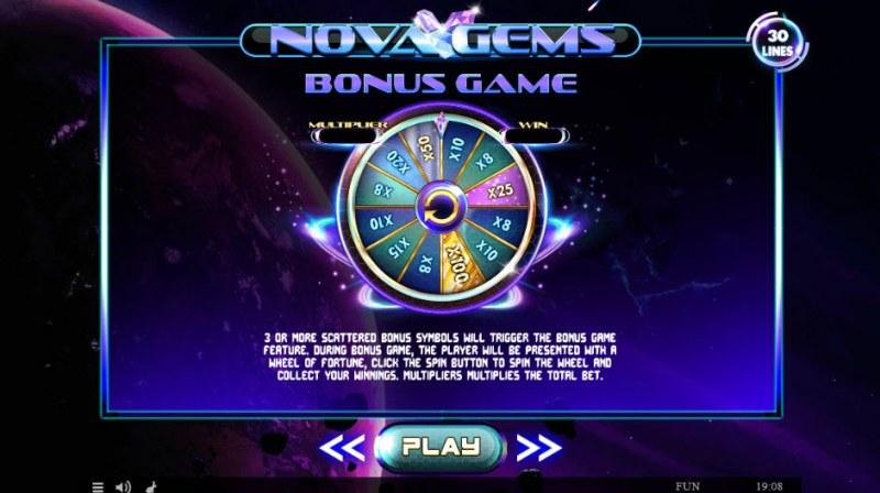Nova Gems :: Bonus Game Rules